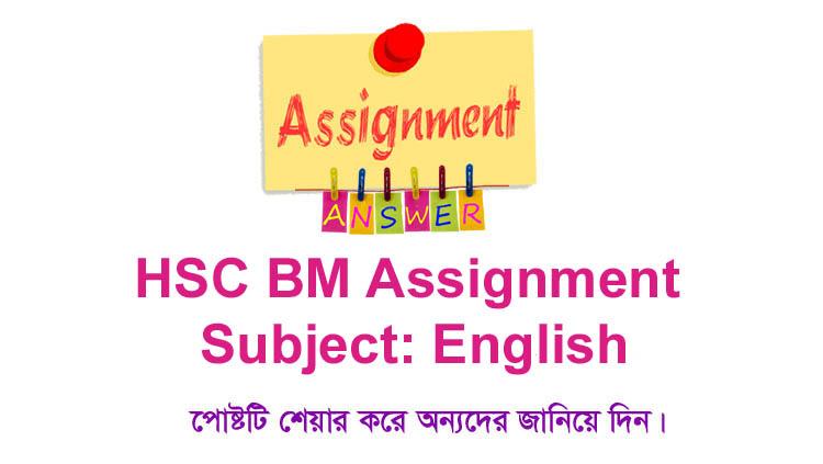 HSC BM English Assignment Answer