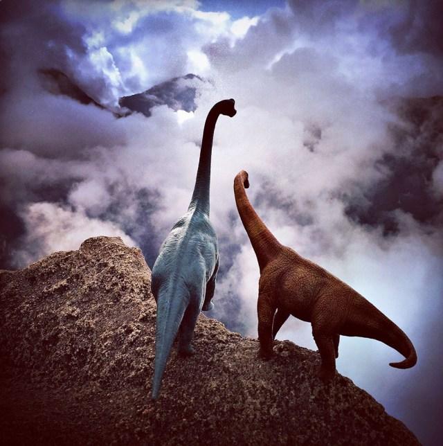 Toy Dinosaur Scenes