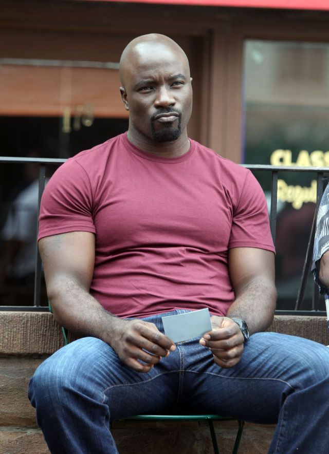 """NEW YORK, NY - SEPTEMBER 22: Mike Colter stars as the title character in Marvel / Netflix's """"Luke Cage:Hero For Hire"""" on September 22, 2015 in New York City. (Photo by Steve Sands/GC Images)"""