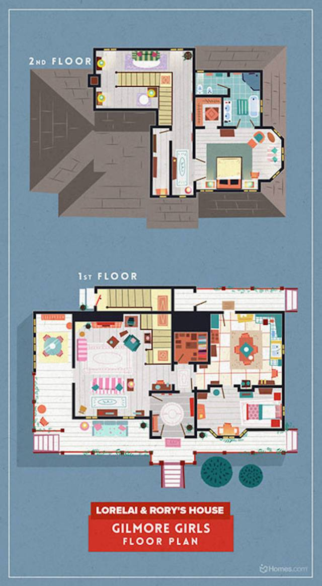Home-Floor-Plans-of-Famous-TV-Shows-5-900x1634