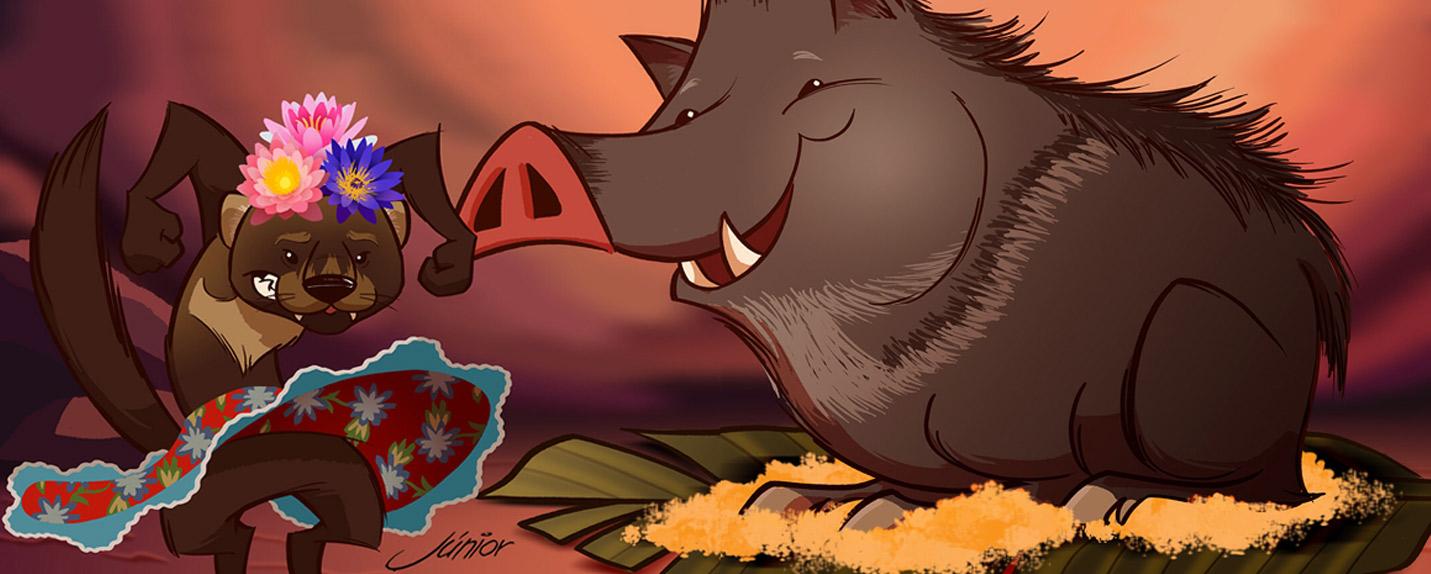 """Como seria o """"O Rei Leão"""" com animais da Amazônia"""
