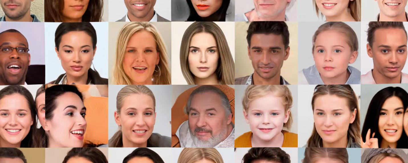 Generated Photos usa inteligência artificial para criar novos rostos