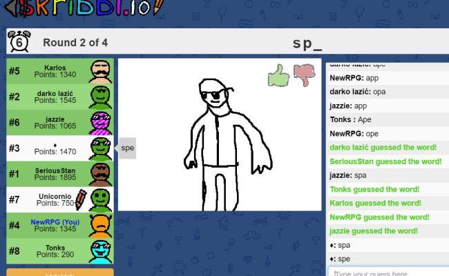 Skribbl Io Guess A Drawing Game