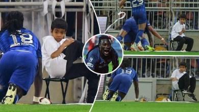 Photo of لحظات طريفة في ملاعب كرة القدم.. طفل سعودي يصاب بالرعب بسبب احتفال جوميز