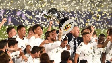 Photo of كورتوا وبنزيما ضمن خمس لقطات قادت ريال مدريد لحسم لقب الليجا