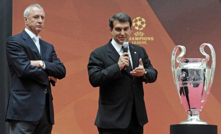 خوان لابورتا مع كأس دوري أبطال اوروبا