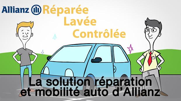 La solution réparation et mobilité auto d'Allianz