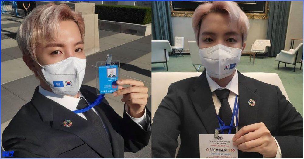 BTS အဖွဲ့ရဲ့ လွှမ်းမိုးနိုင်မှုစွမ်းအားကို UN မှာ မိန့်ခွန်းပြောကြားရင်း ပြသသွားတဲ့ J-Hope
