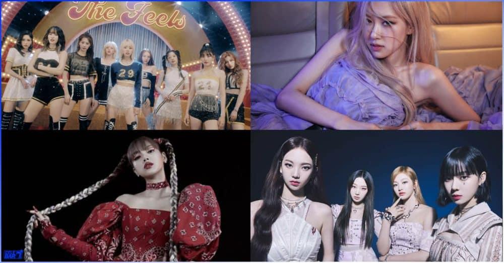 ၂၀၂၁ ခုနှစ်အတွင်း Apple Music Global Chart မှာ Rank အမြင့်ဆုံးရရှိခဲ့တဲ့ K-Pop မိန်းကလေးအဆိုရှင်တို့ရဲ့ သီချင်းများ