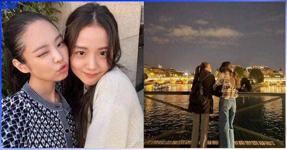 Paris မြို့ကို ရောက်ရောက်ချင်း Jisoo နဲ့ တန်း date ခဲ့တဲ့ Jennie