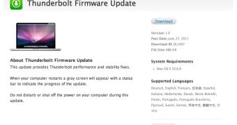 Download Thunderbolt Firmware Update for Mac OS X 10.6.8