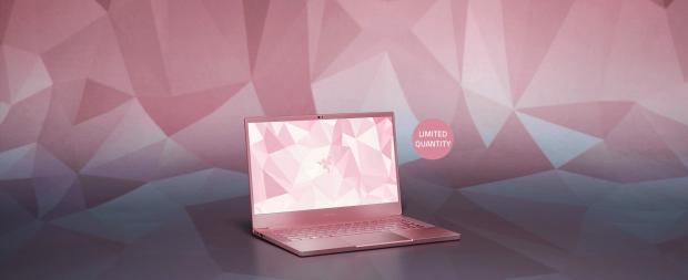 Pink Razer laptop