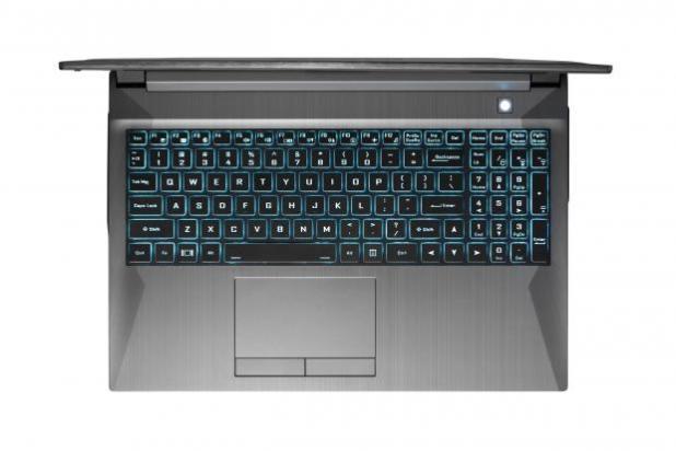 Gazelle laptop - keyboard view