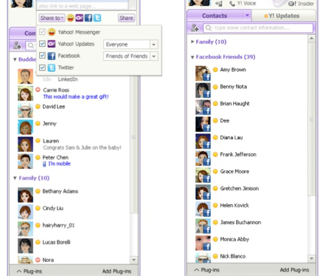 Yahoo Messenger 11 Beta With Facebook And Twitter Integration