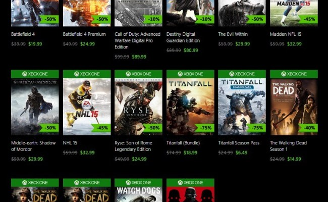Xbox One Black Friday 2014 Digital Game Discounts Revealed
