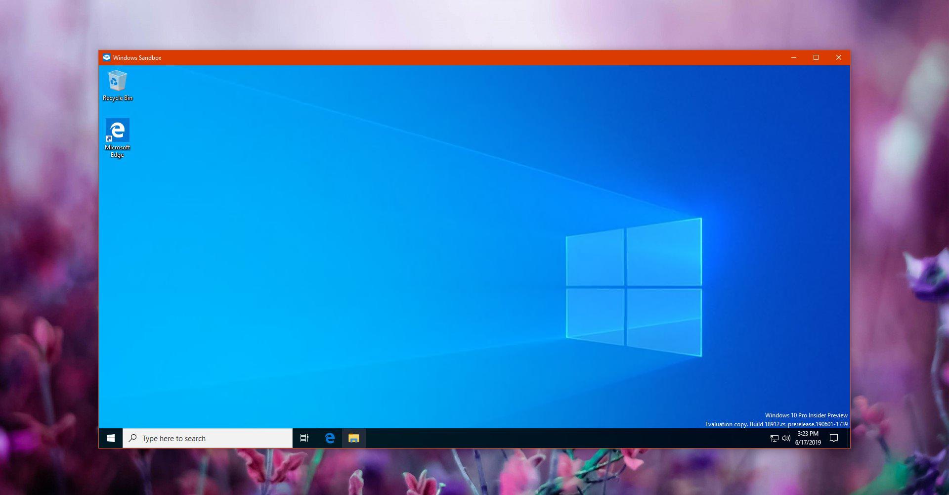 Configure Windows Sandbox in Windows 10 Version 1903