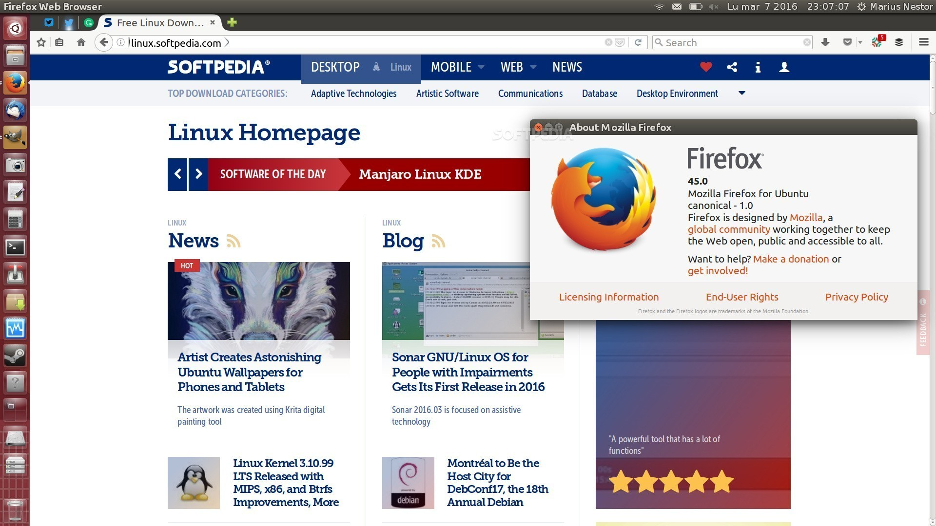 Mozilla Firefox 45.0.2 Released for Linux. Windows & Mac OS X with More Bugfixes