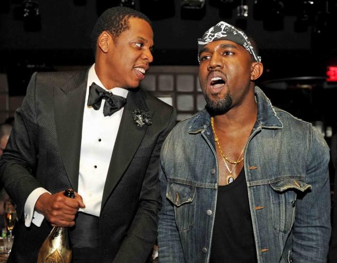 jay z with kanye west 690x538 Kanye Vs. Jay Z: Obama Settles The Great Debate