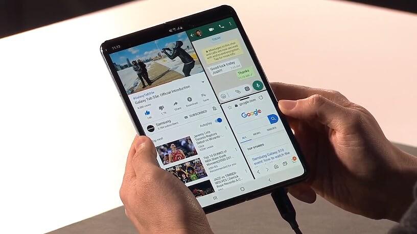 Samsung представил складную модель смартфона Galaxy Fold