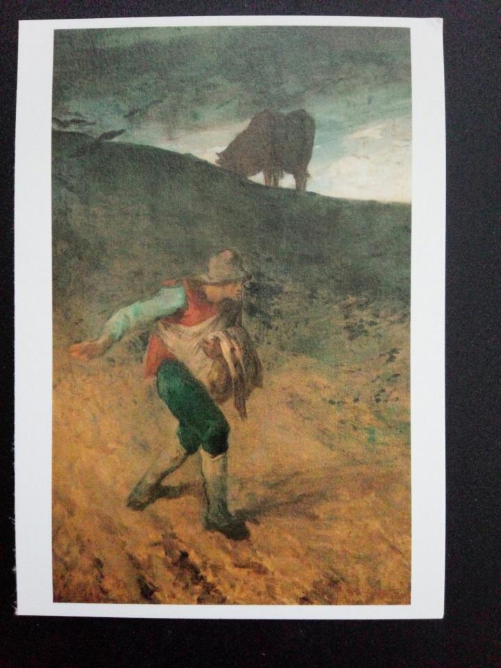 アートカードブック ミレー「種をまく人」