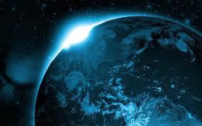 宇宙日の出 画像