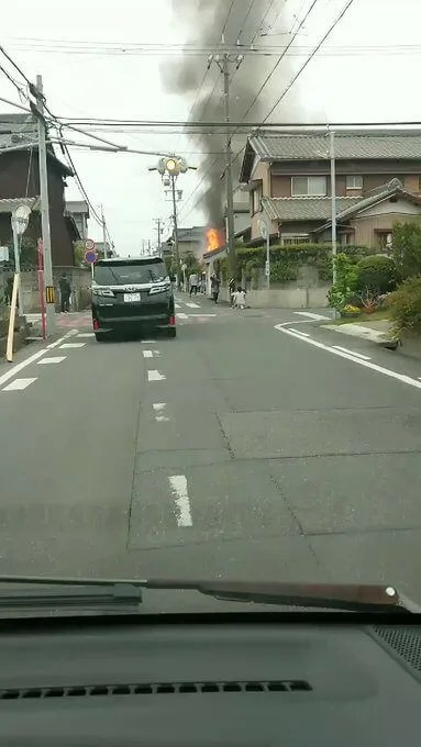 愛知県刈谷市で火災