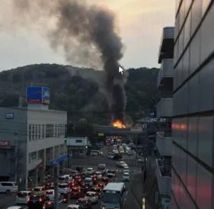 画像・動画あり。伊敷交番近く(鹿児島市伊敷6丁目)で火災。詳しい場所はどこ?