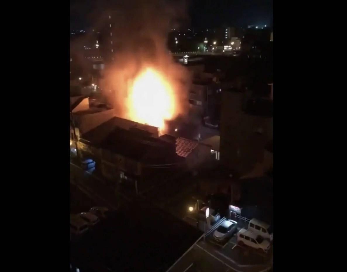 福井県福井市中央割烹日本料理の「一燈」で火災