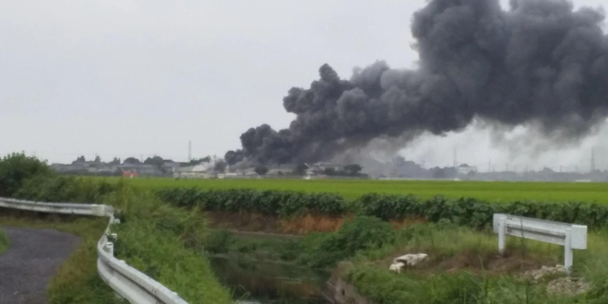 firescene 栃木市大平町武井の工場火災