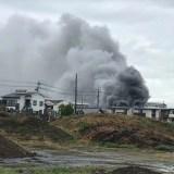 愛知県江南市高屋町北上付近で火災