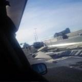 阪神高速神戸線の尼崎パーキング手前で事故が発生