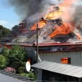 宮城県登米市南方町堤田付近で火事