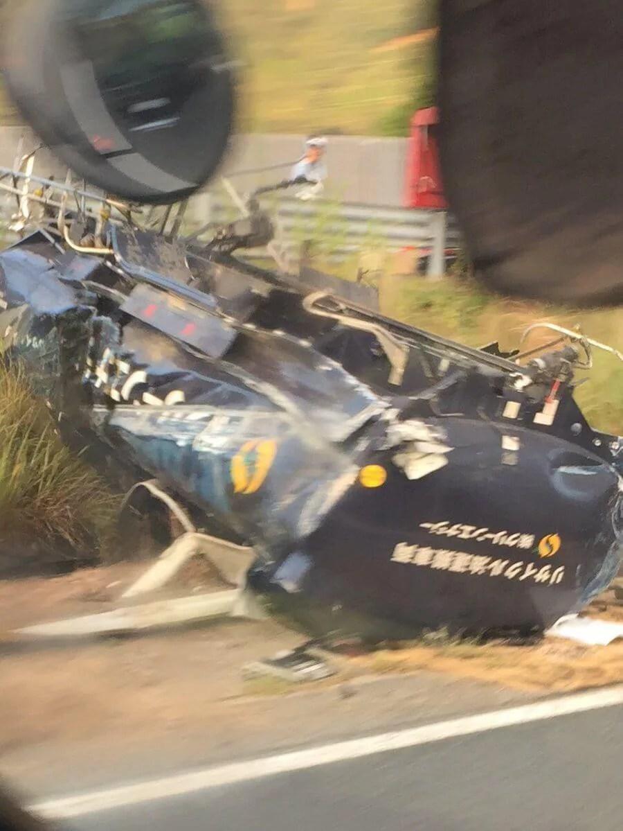 山陽道 東広島インター付近で車両事故