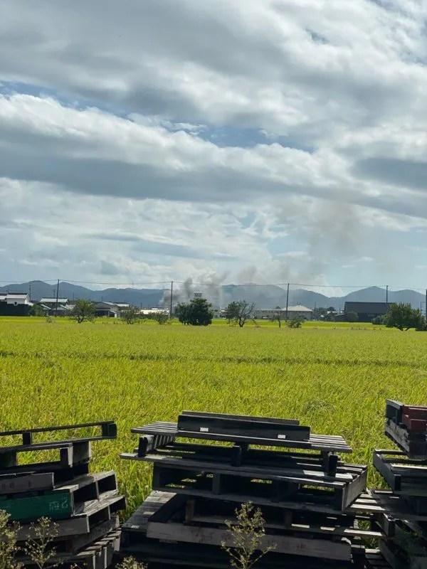 岡山県岡山市南区中畦付近で火事
