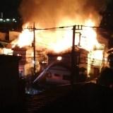 埼玉県川口市上青木西1丁目付近で火事