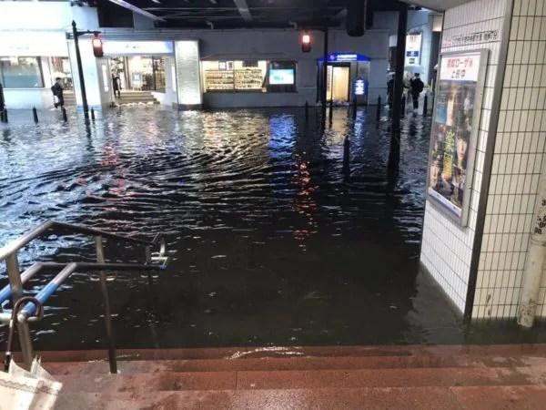 千葉駅 豪雨 浸水