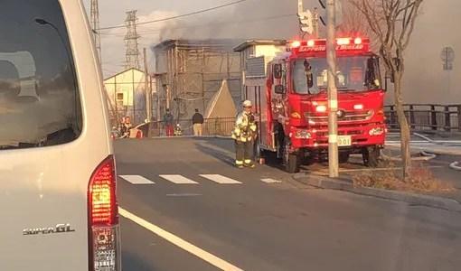 動画 北海道札幌市東区丘珠町 塗装屋で火事が今日発生 原因は何故?Twitter速報画像11月19日