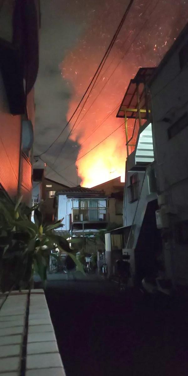 東京都葛飾区お花茶屋2丁目 火事 2019年12月13日