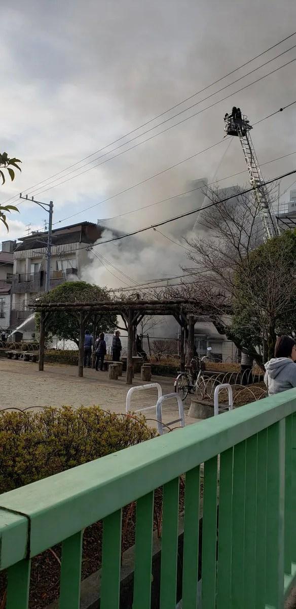 長野県飯田市中央通り1丁目 火事 2019年12月19日