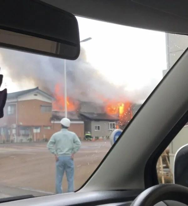 新潟県三条市直江町4丁目 火事 2020年1月10日