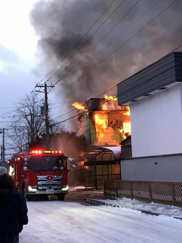 北海道苫小牧市柏木町3丁目 火事  2020年1月11日