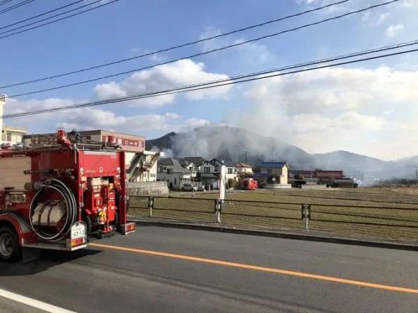 広島県安芸郡熊野町出来庭 火事 2020年1月15日