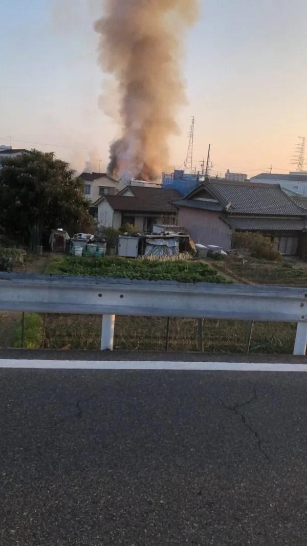 愛知県刈谷市一ツ木町 火事  2020年1月20日