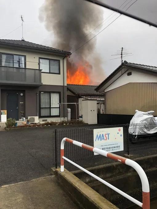 長野県長野市丹波島2丁目 火事 2020年1月29日