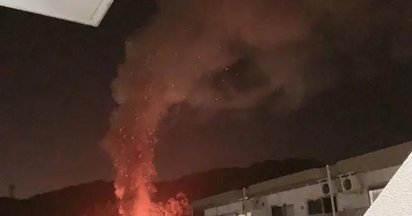 鹿児島県日置市伊集院町郡 火事 2020年1月21日