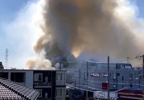神奈川県藤沢市石川1丁目 火事 2020年2月9日