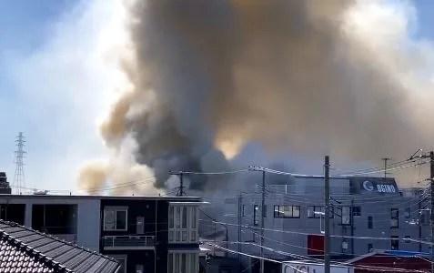 神奈川県藤沢市石川1丁目で火事 原因は?速報動画・画像2020年2月9日