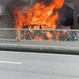 大阪 生野区 中川西 ベンツ 車両火災