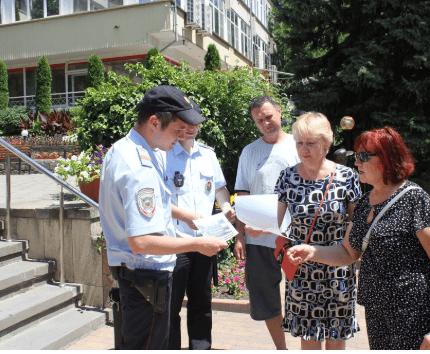 В Железноводске состоялась пропагандистская акция «Остерегайтесь мошенников!»