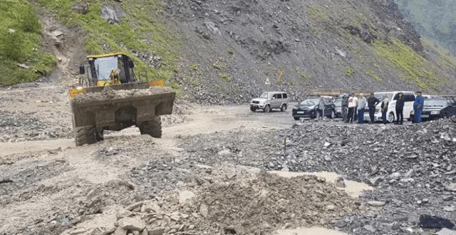 В Северной Осетии открыт проезд на участке Транскама после схода селевого потока